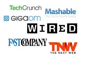 techcrunch, mashable, nytimes and more logos